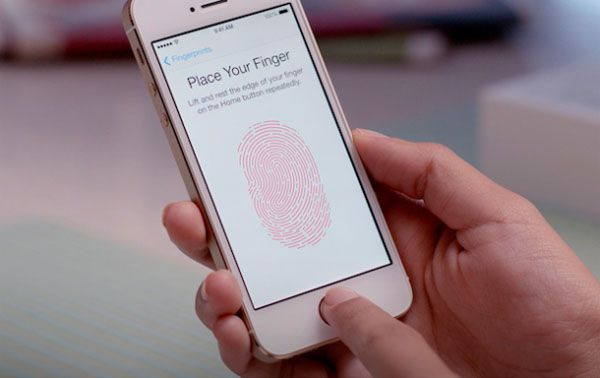 iPhone 5S with new Touch ID fingerprint reader: image courtesy of Apple Inc.