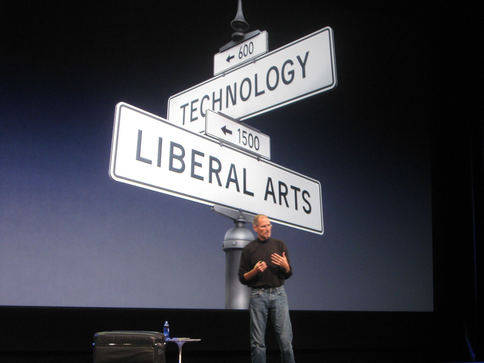 """Steve Jobs famously said """"It's in Apple's DNA that technology alone is not enough — it's technology married with liberal arts, married with the humanities, that yields us the result that makes our heart sing and nowhere is that more true than in these post-PC devices."""""""
