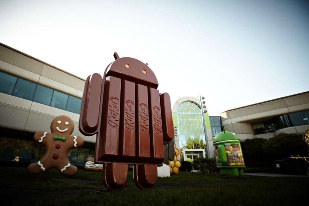 Android statues at the Google campus.
