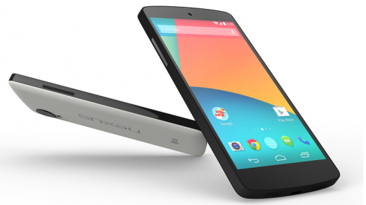 The Nexus 5: image courtesy of Google.