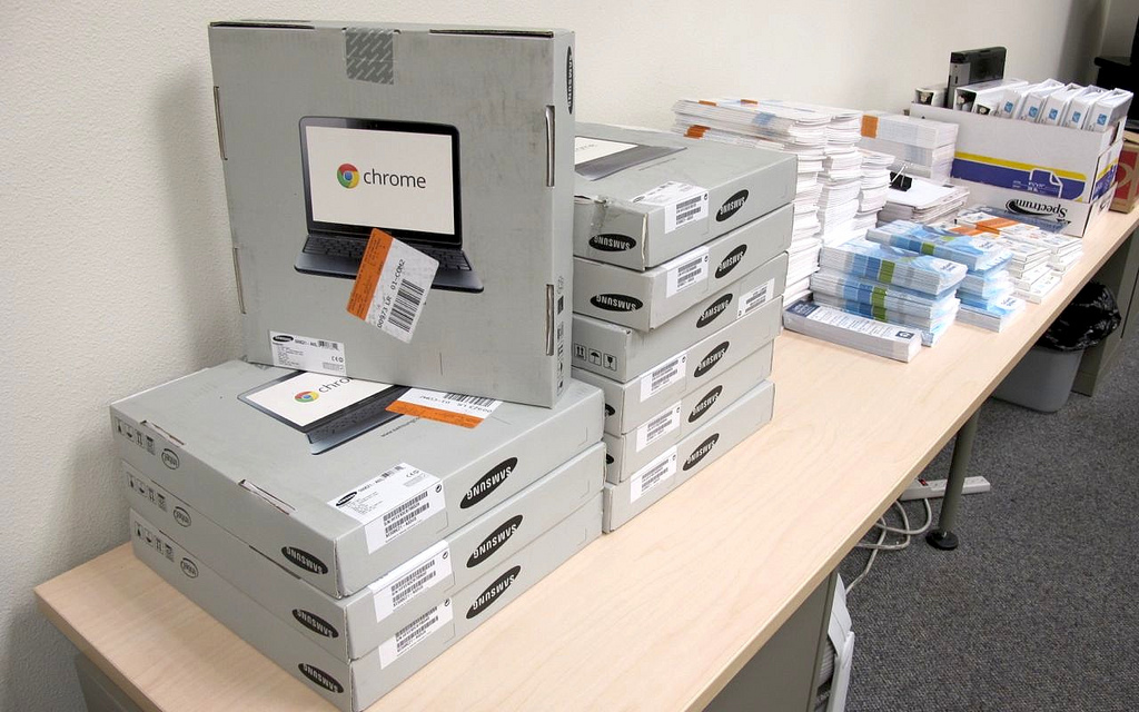 Chromebooks bought by Redmond school district. CC image courtesy of Rachel Wente-Chaney on Flickr