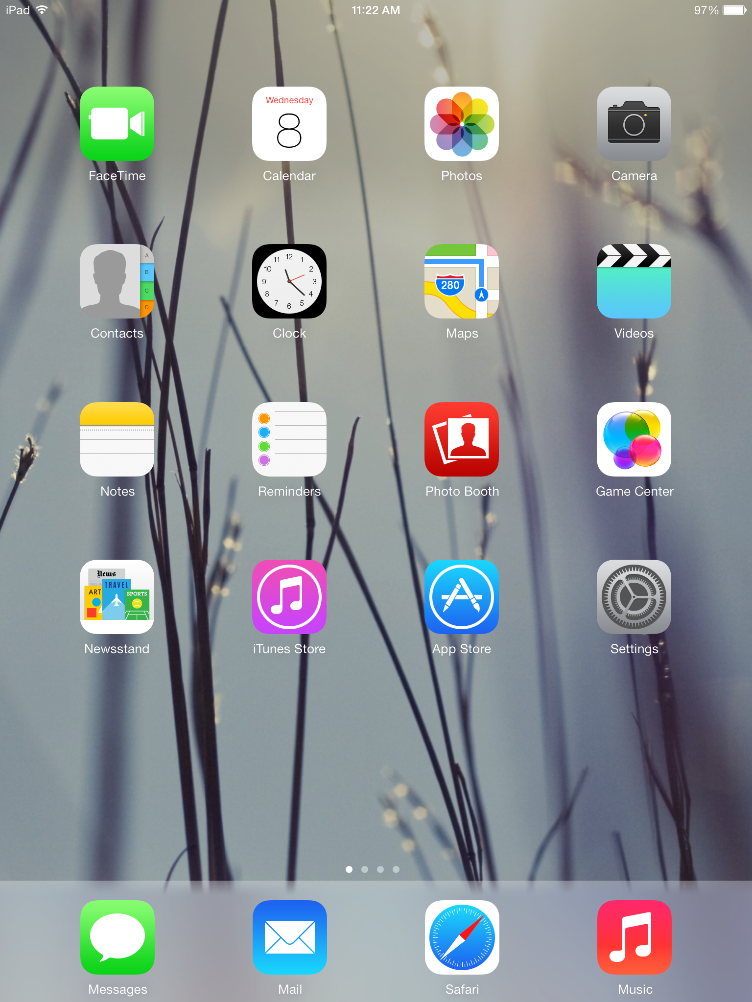 iOS is essentially an app drawer so the wallpaper is always present.
