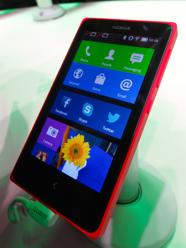 The Nokia X is the company's first attempt at an Android device, and it's aimed at markets in the developing world. CC image courtesy of Rob Pegoraro on Flickr