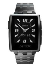The Pebble Steel is probably the most stylish of the current crop of smartwatches. Image courtesy of Pebble.