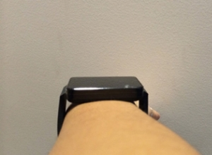 The LG G Watch is quite chunky and still. Not quite the sexy wearable people are expecting. Image courtesy of Adriana Lee.