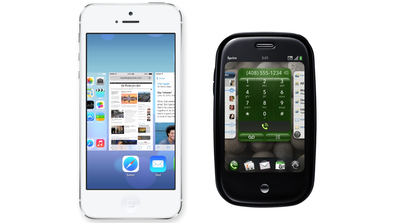 iPhone iOS 7 and Palm webOS multitasking