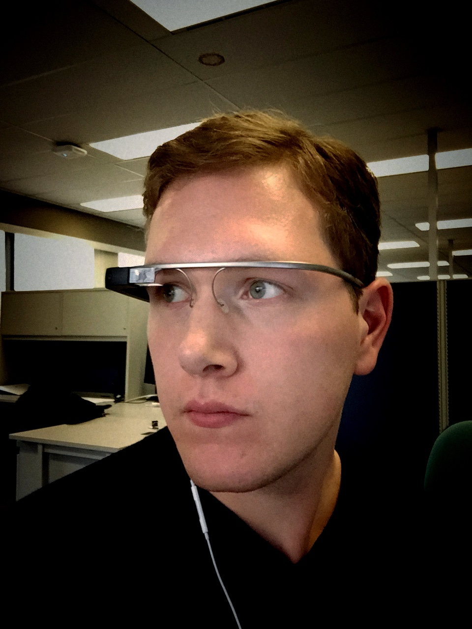 Selfie of me with Glass!