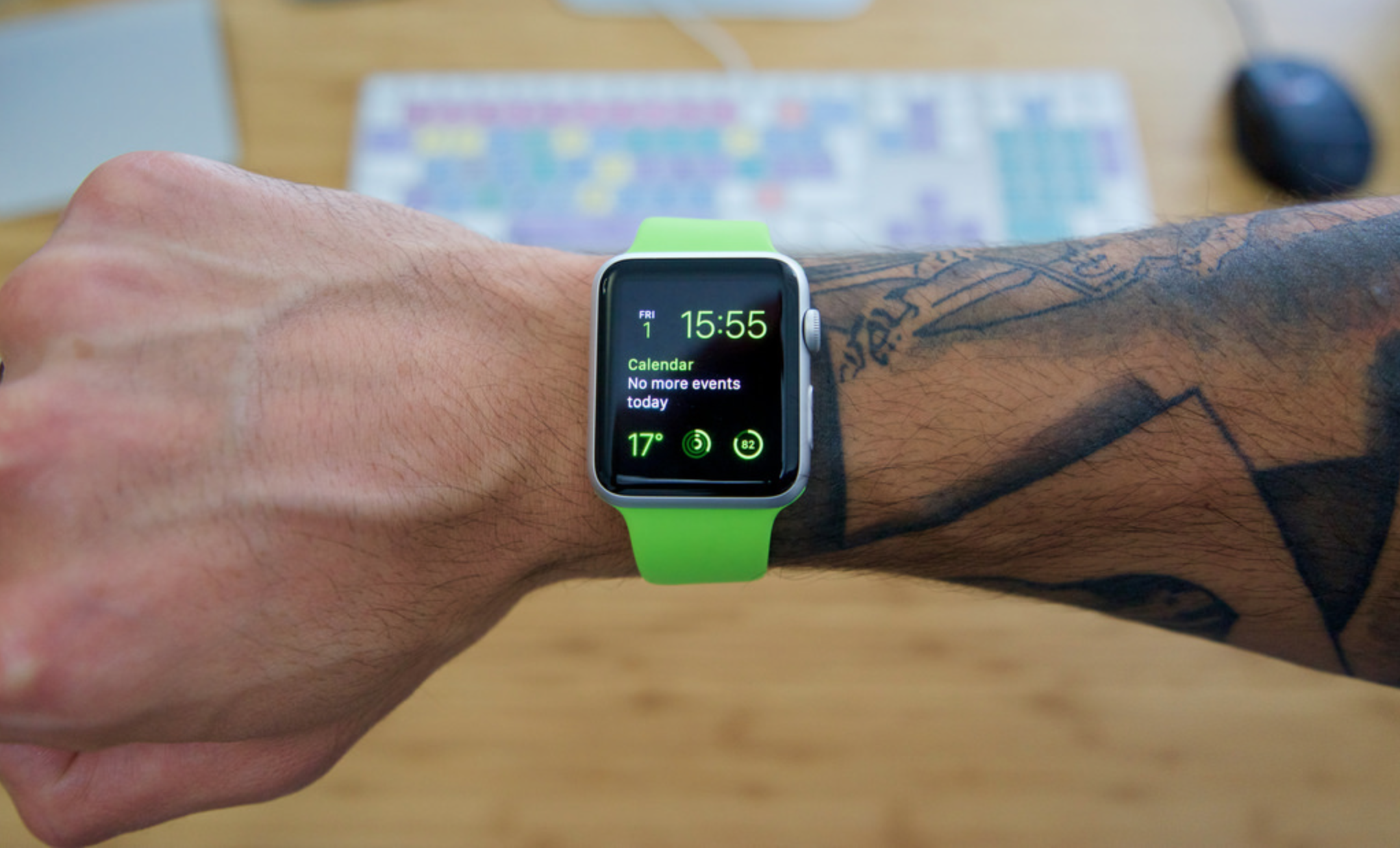Apple acknowledges that the Apple Watch and tattoos don't get along well. Image courtesy of  Retina Boys