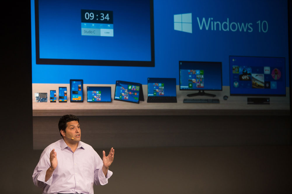 Windows 10 will run on all mobile platforms according to Terry Myerson. Image courtesy of Wired.