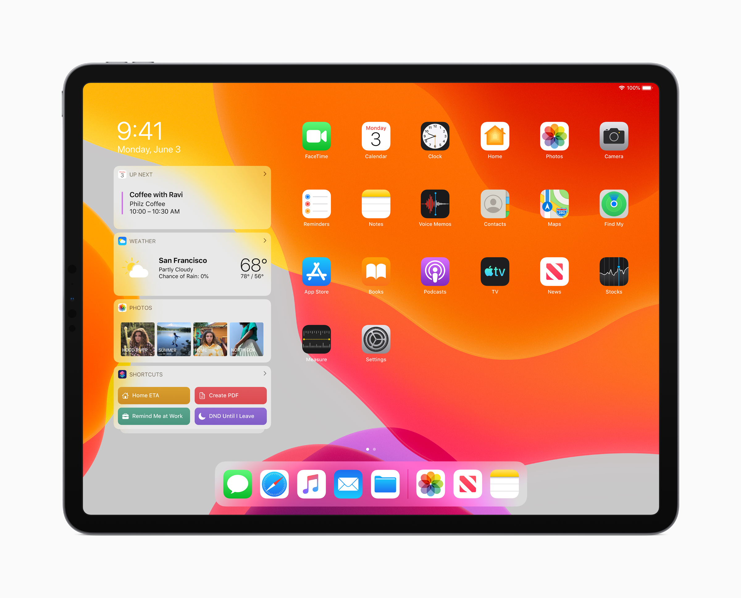 iPadOS home screen. Image courtesy of Apple.