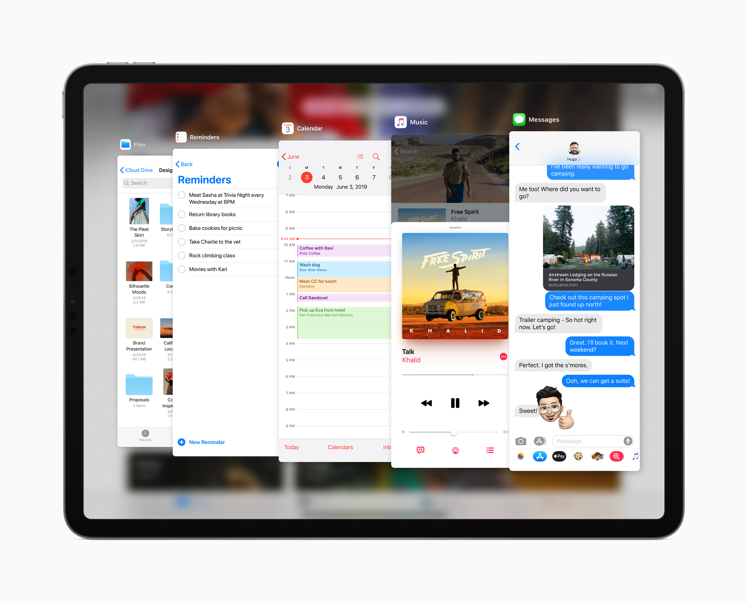 iPadOS Slide Over app switcher. Image courtesy of Apple.