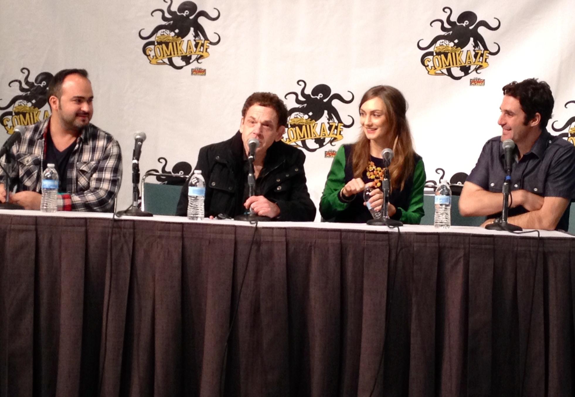 Steven Thadeus, Charles Fleischer, Hannah Levien & Josh Mann at Comikaze 2013