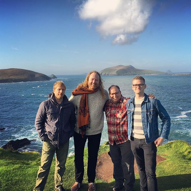 For the price of a round of #guinness for these hard working lads, you can help us by donating to our Indiegogo and come away with your own copy of a film featuring live performances of guitar and violin music recorded all over Ireland (including this cliffside)..... go to fireandgracemusic.com to learn more! #ireland #sleahead #guinness #filmmaking #indiefilm #canoncinema #traditionalirishmusic #cinematic #stpatricksday