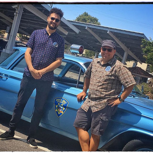 We've started a new project shooting some video for the @santacruzpolice over the next few weeks, and today was a great start ridin' FLY in their 1961 Chevrolet Biscayne police cruiser! #chevy #chevrolet #chevybiscayne #videoshoot #videoproduction #santacruz #canon #vintagecar