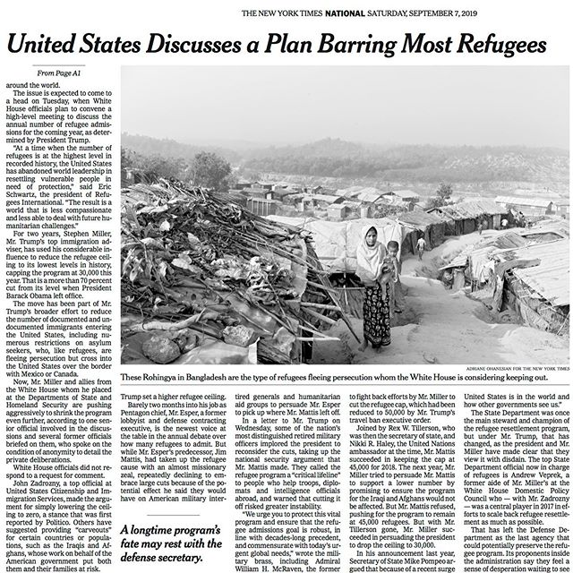 It's even exciting to get the digital version of the print version #longliveprint #nyt #refugees #refugeeswelcome #bangladesh #myanmar #rohingya #photography #photo #photographer #photojournalism #adrianeohanesian