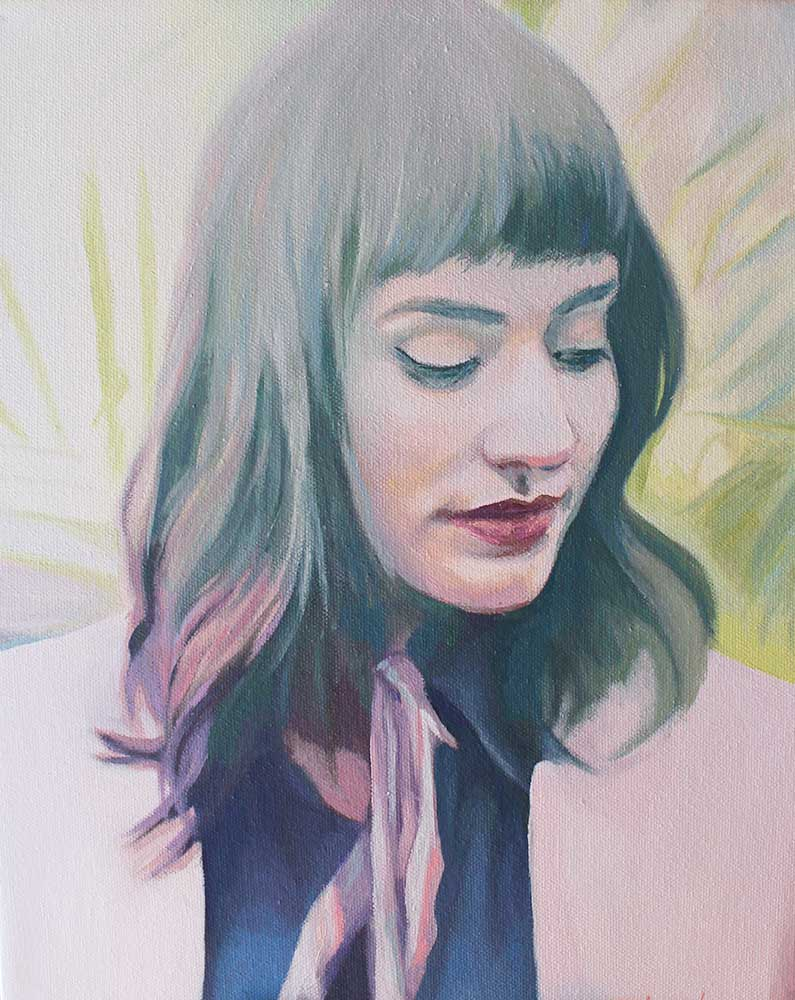 "Frayed Fawn, Portrait Study. 11""x14"" oil on canvas. 2018."