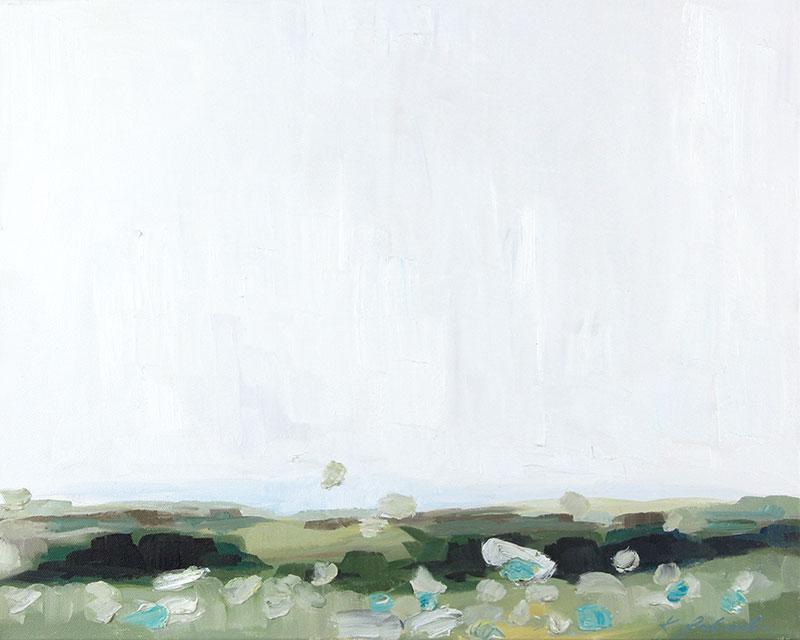 "Murmur, 20""x16"" oil on canvas. 2016."