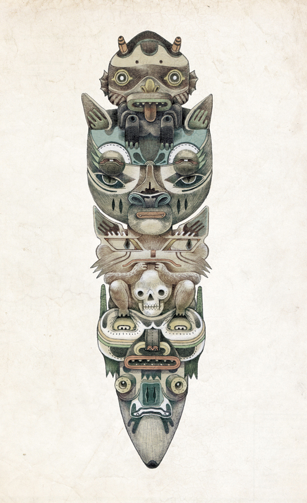Raymond Lemstra  Totem  Giclée print (edition 30) 30 x 40 cm  sold out