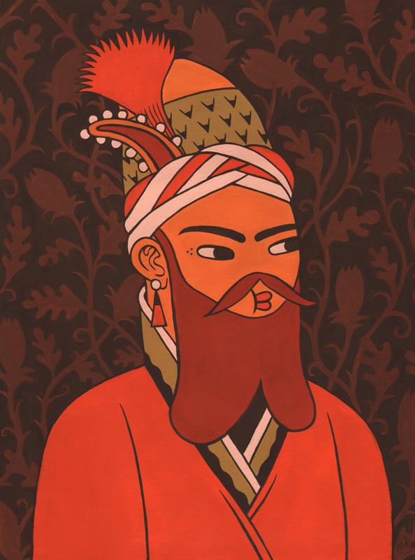 Miss Lotion  Sultan  Gouache on paper 30x 40 cm    Inquire