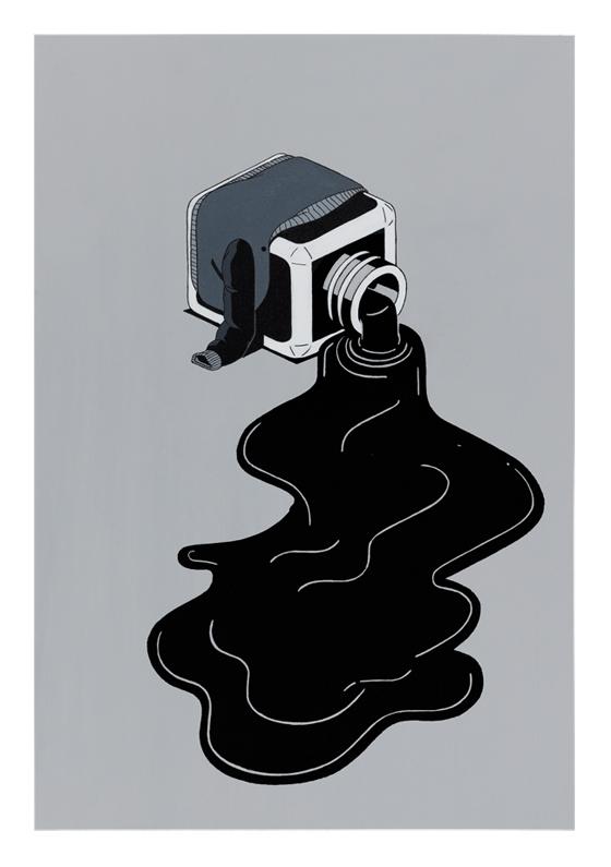 Stefan Glerum  Occupational Hazards #4  ink and acrylic on artist paper 29,7 x 42 cm    Inquire