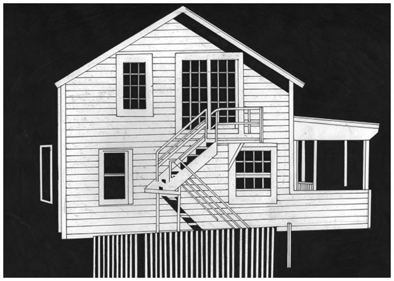 Siard Bijkersma  House / 11 - The American Soundtrack  pen on paper 29,7 x 21 cm   Inquire