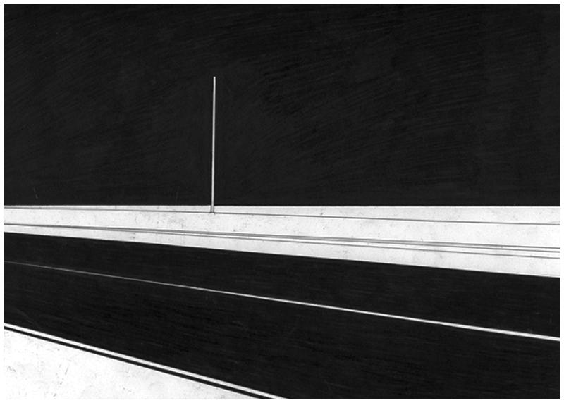 Siard Bijkersma  Road - The American Soundtrack  pen on paper 29,7 x 21 cm    sold