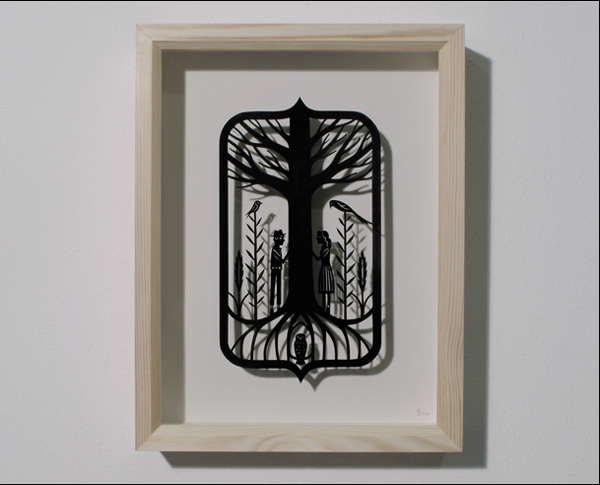 Graça Brohm  What They thought No One Would hear  handmade papercut  sold