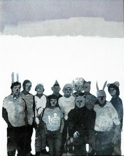 Jeroen Blok  Social Pressure  mixed media 40 x 50 cm   Inquire