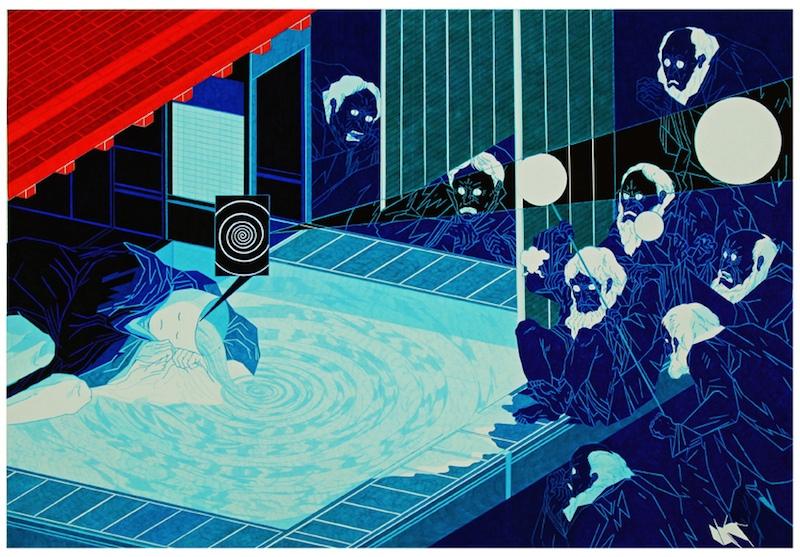 Jon Fox - Pool - pen on paper, 2014