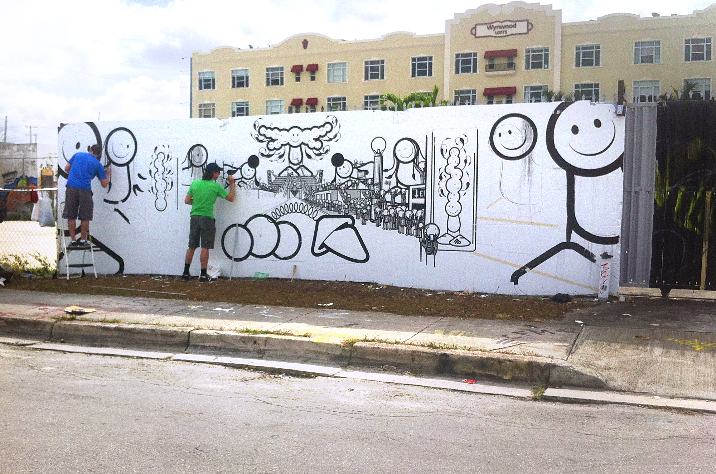 The London Police at work on their Wynwood mural in Miami