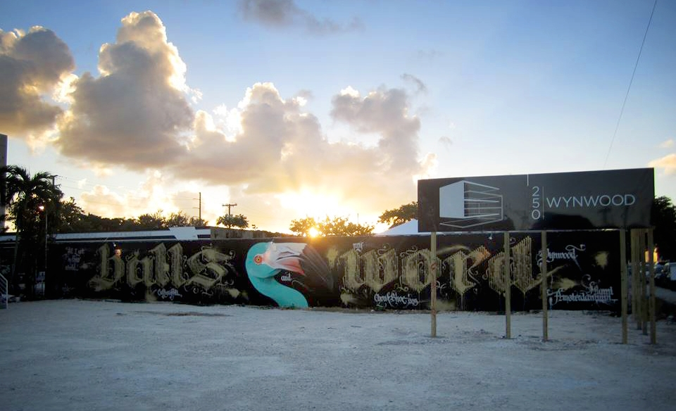 mural by Niels 'Shoe' Meulman and Adele Renault in the Miami sunset