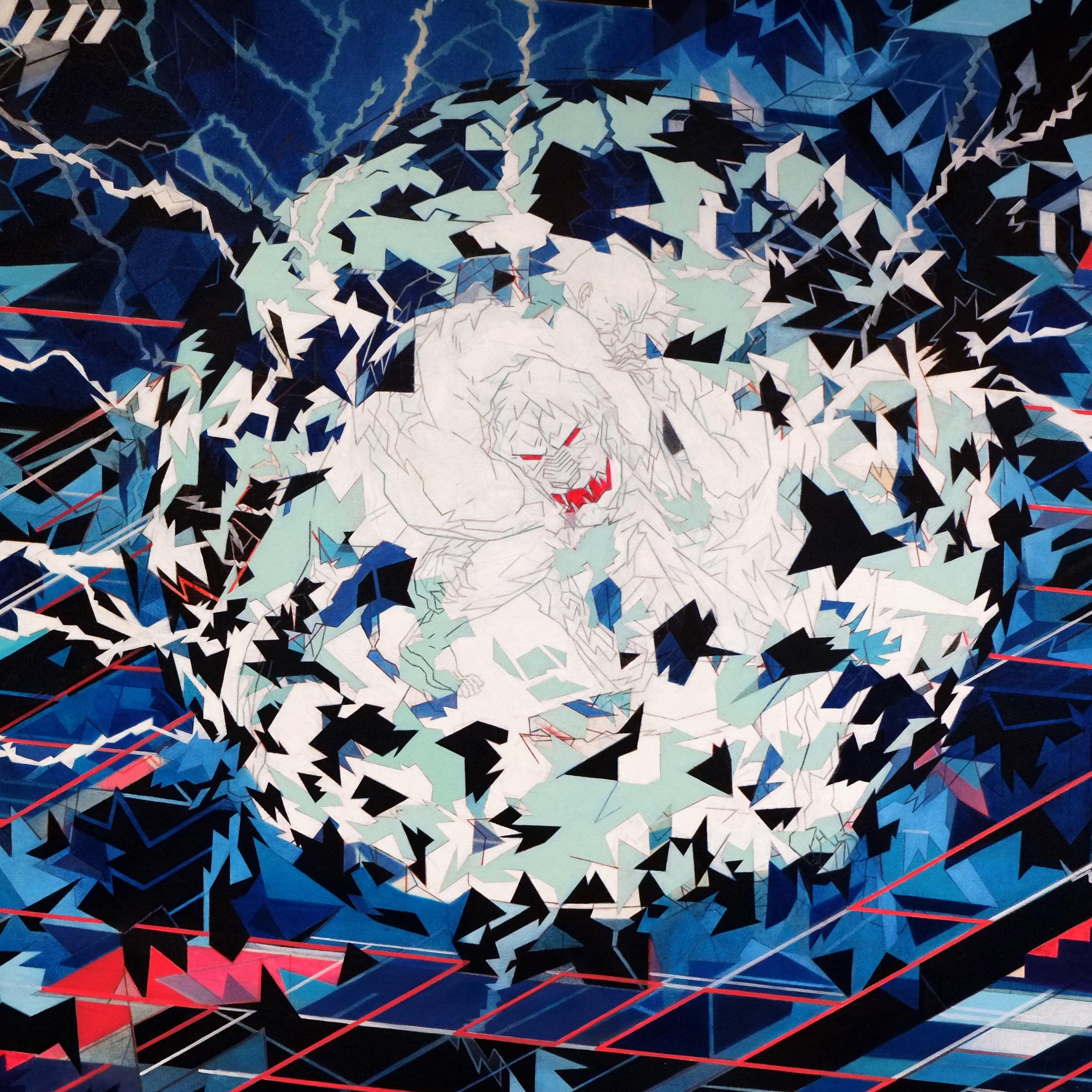 Jon Fox - Prisoners Cinema - oil on canvas - 250x150cm (detail)