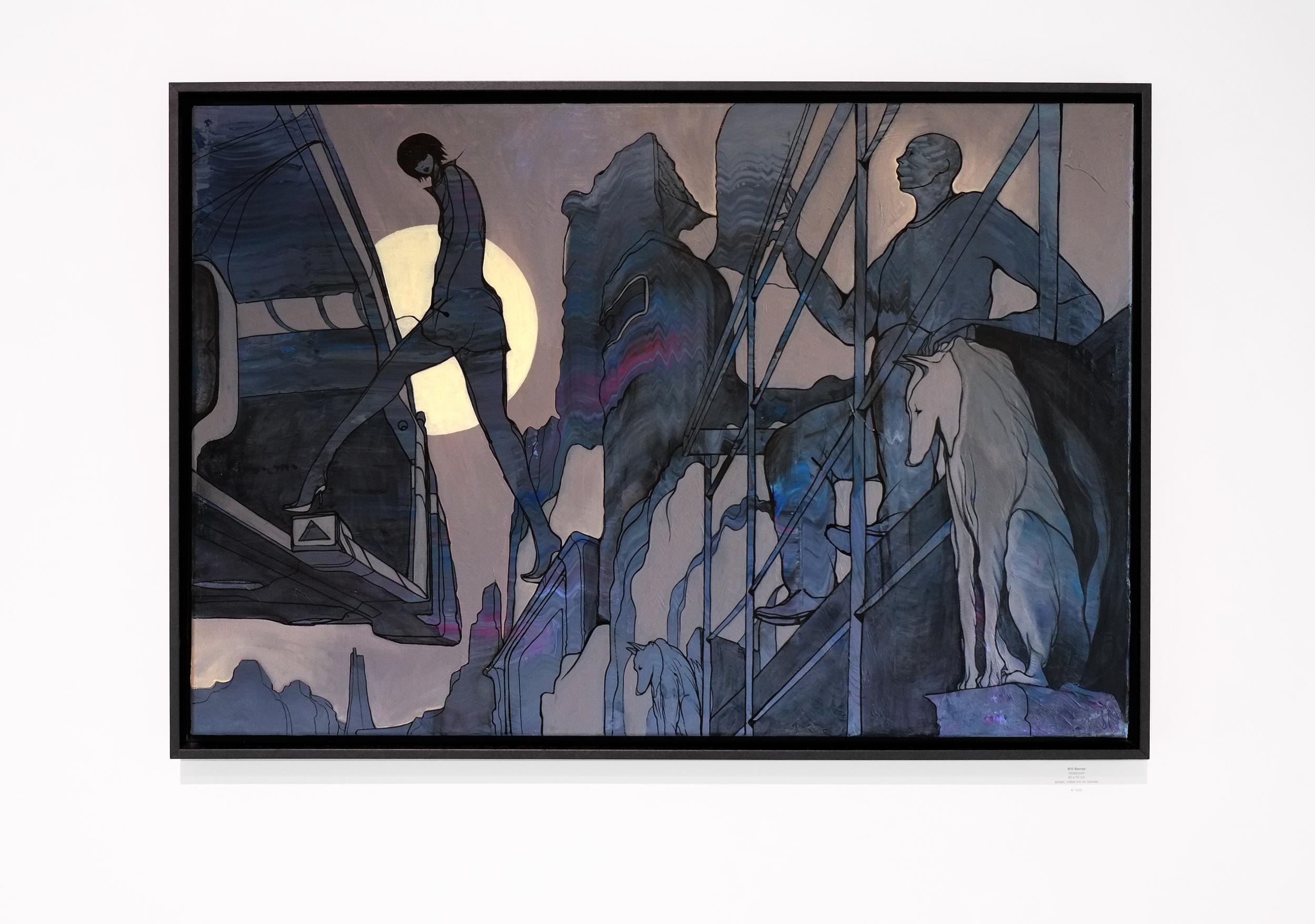Will Barras - Flying Taxi - acrylic indian ink on canvas - 90x60cm.jpg