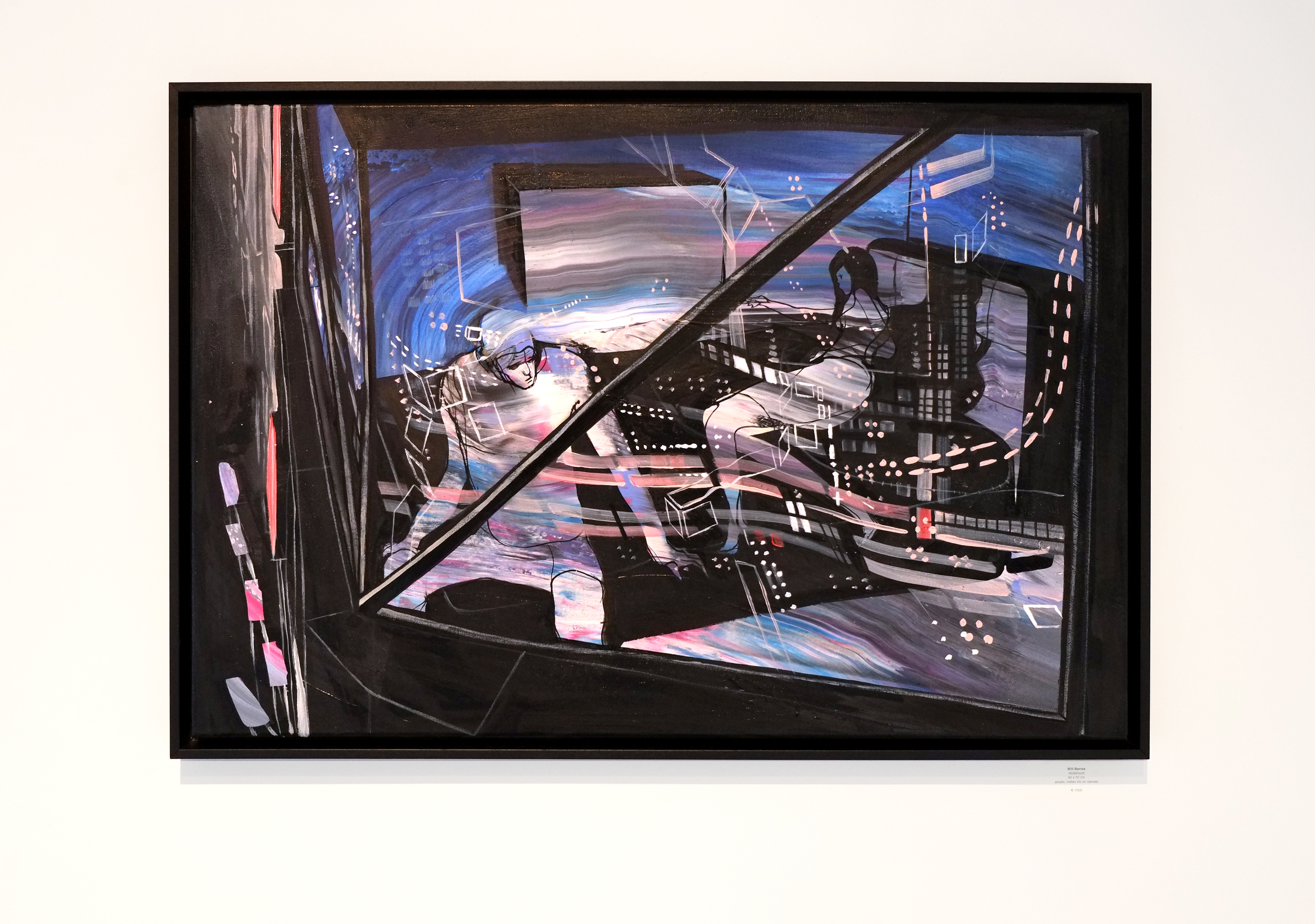 Will Barras - Hotelroom - acrylic indian ink on canvas - 90x60cm.jpg