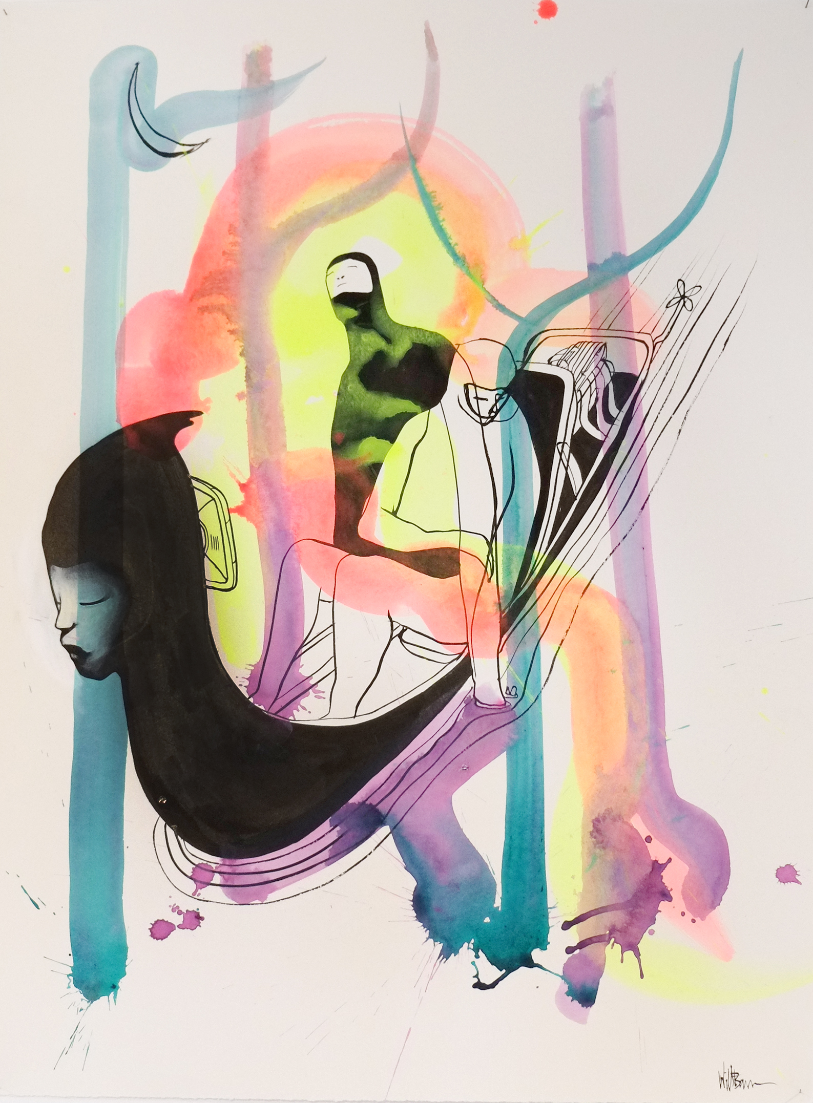 Will Barras - Original Drawings - acrylic and indian ink on 300gr art paper - 56x76cm - 1.jpg