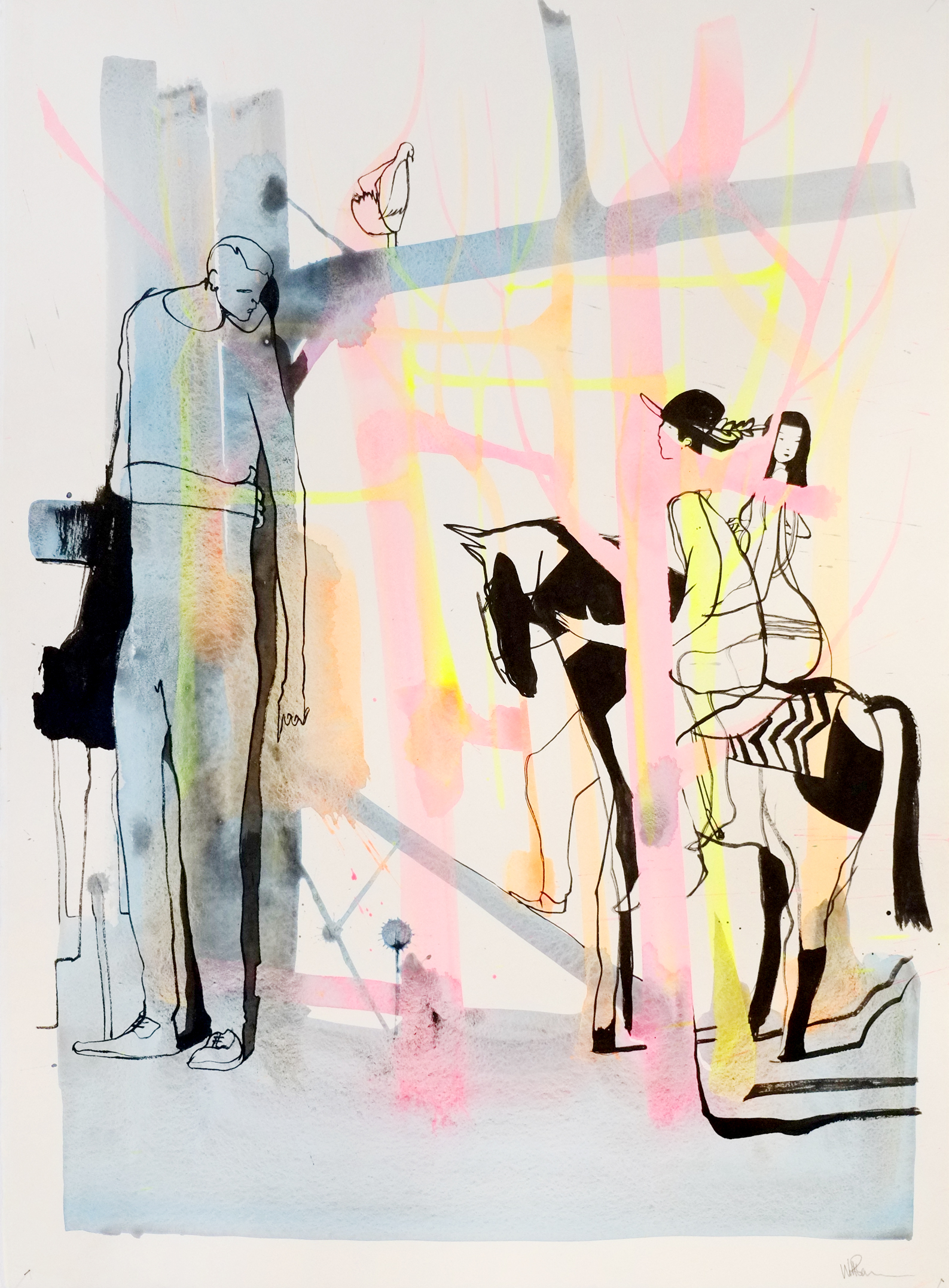 Will Barras - Original Drawings - acrylic and indian ink on 300gr art paper - 56x76cm - 4.jpg