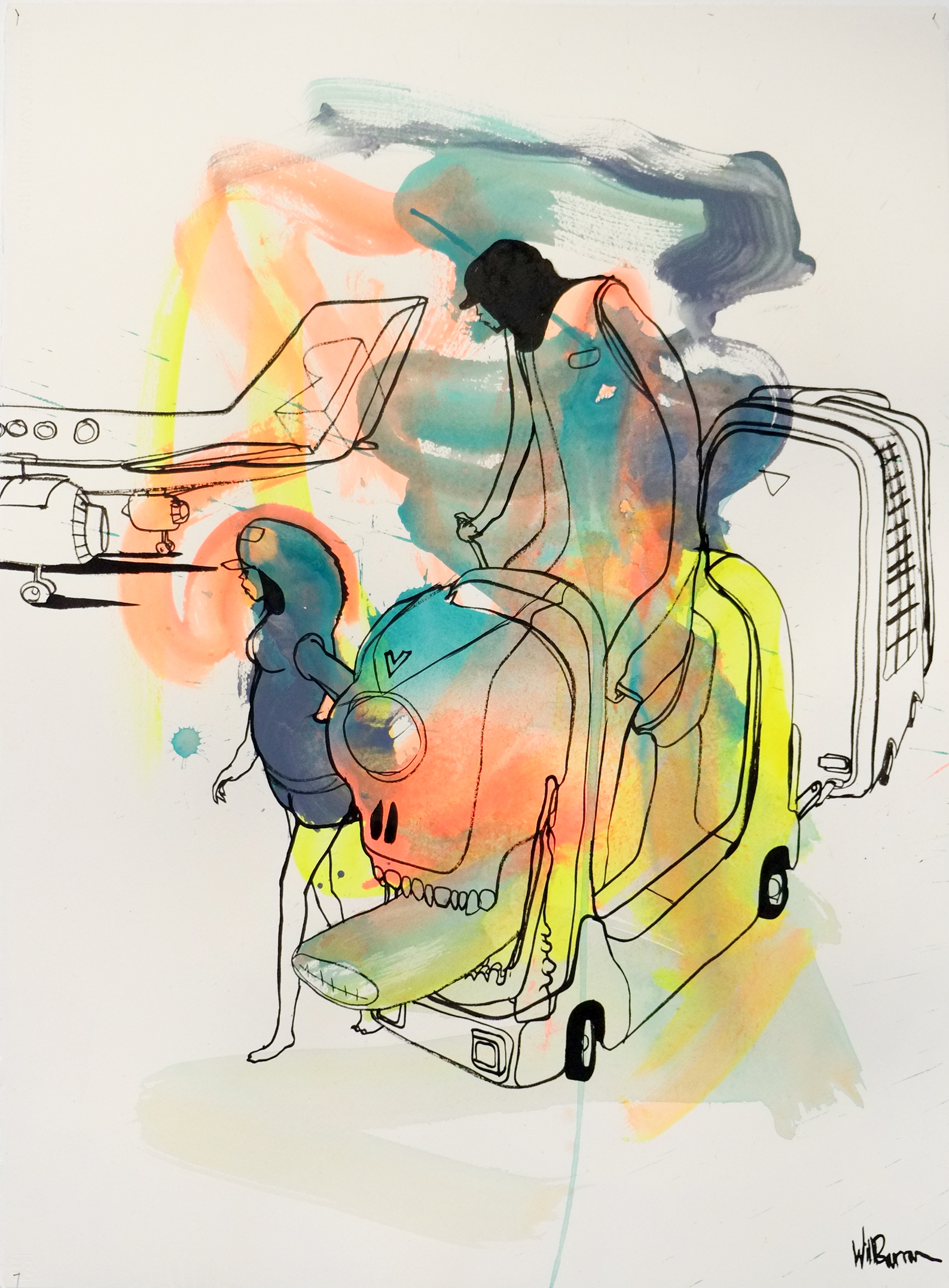 Will Barras - Original Drawings - acrylic and indian ink on 300gr art paper - 56x76cm - 6.jpg