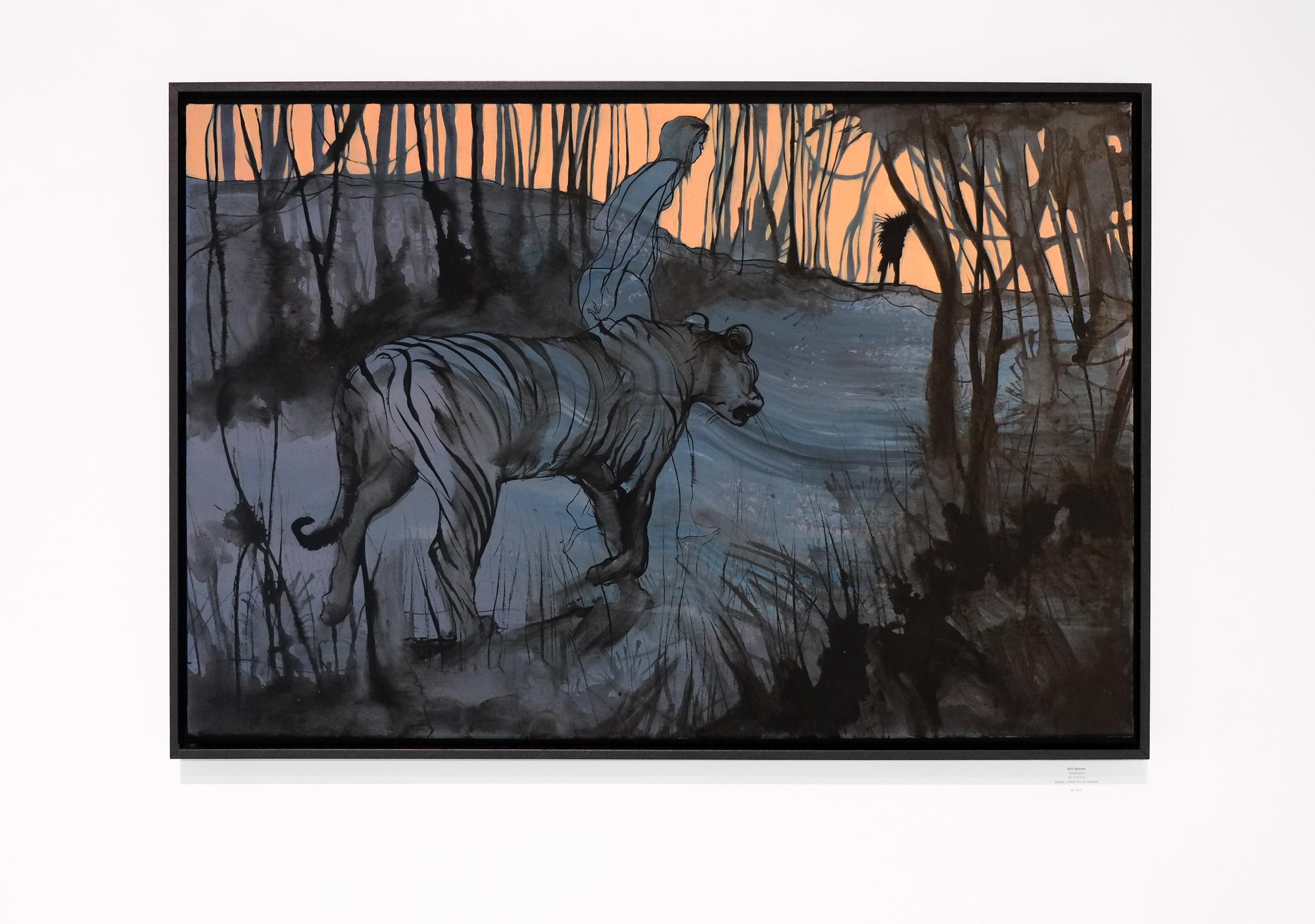 Will Barras - Tiger - acrylic indian ink on canvas - 90x60cm.jpg