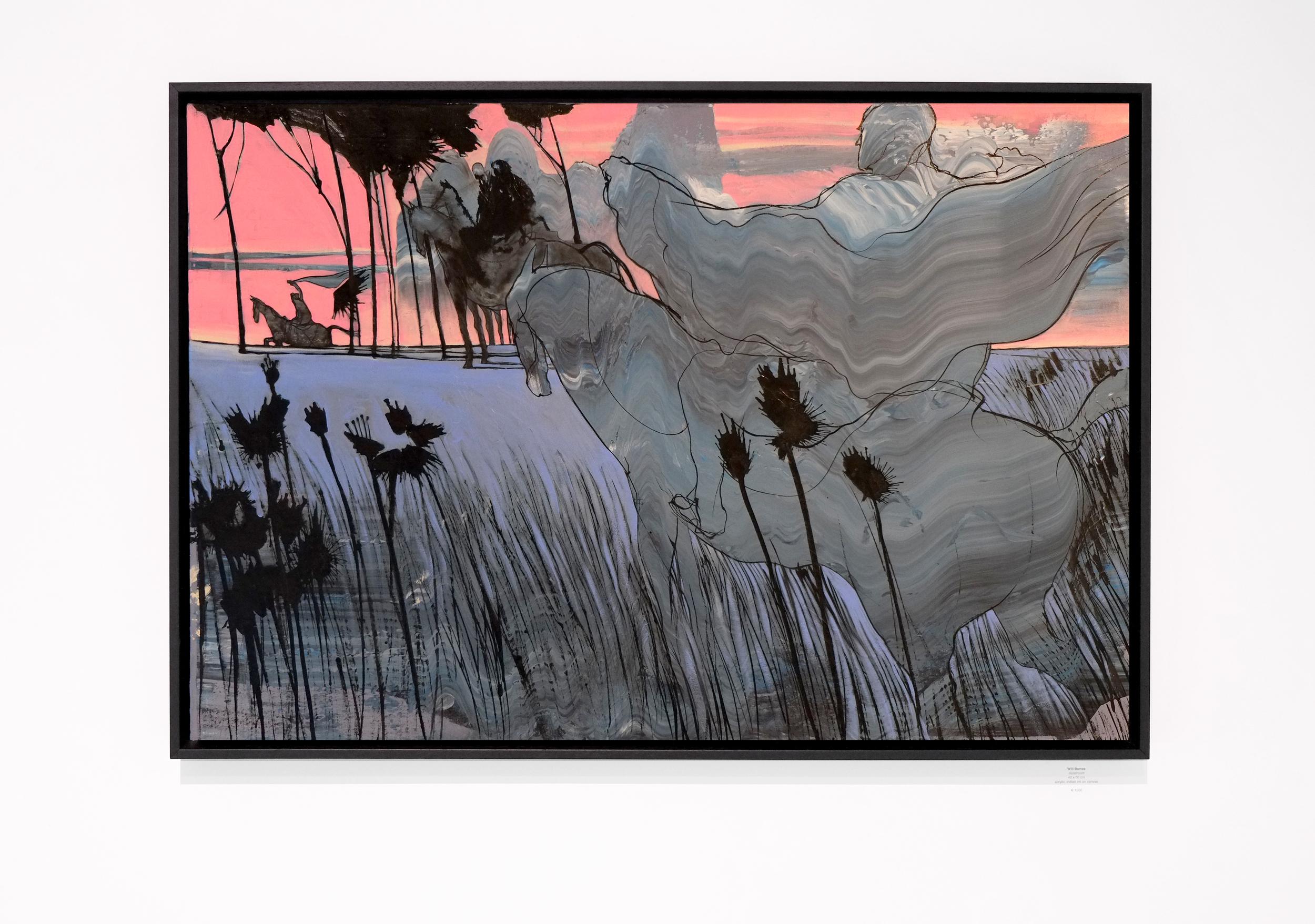 Will Barras - Riders - acrylic indian ink on canvas - 90x60cm.jpg