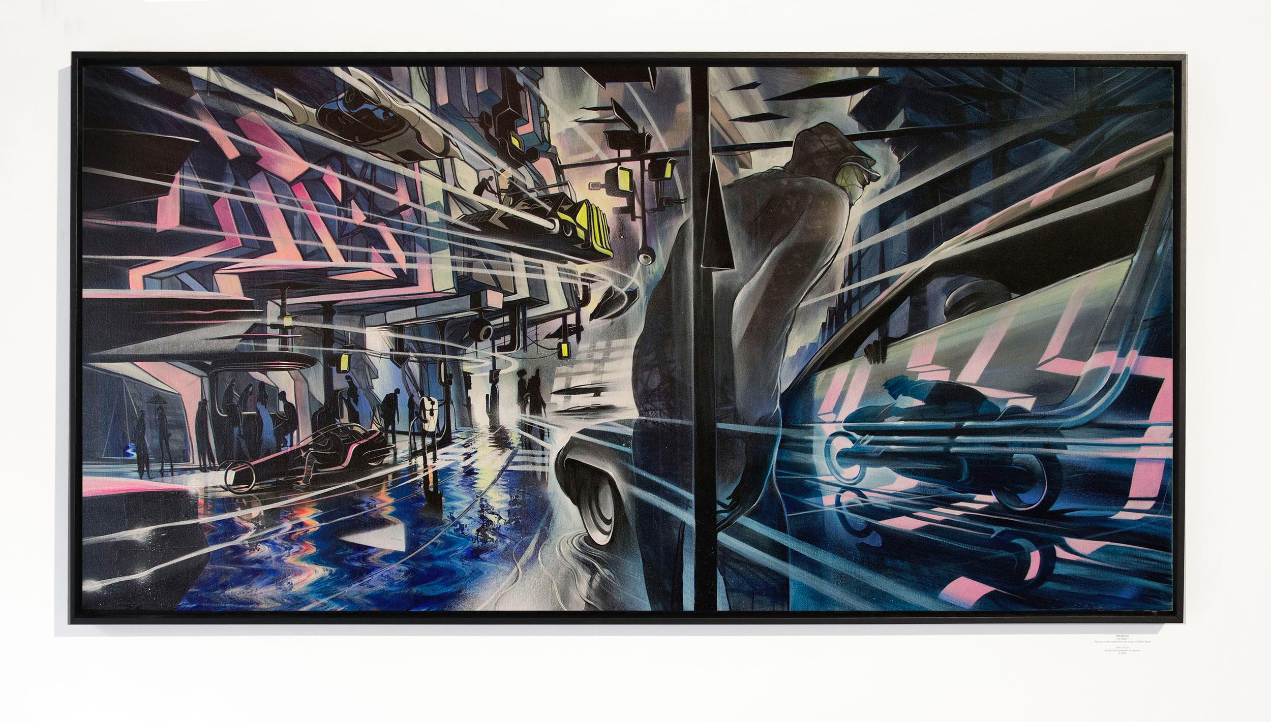 Will Barras - Def Mask II - acrylic and spraypaint on canvas - 156x76cm.jpg