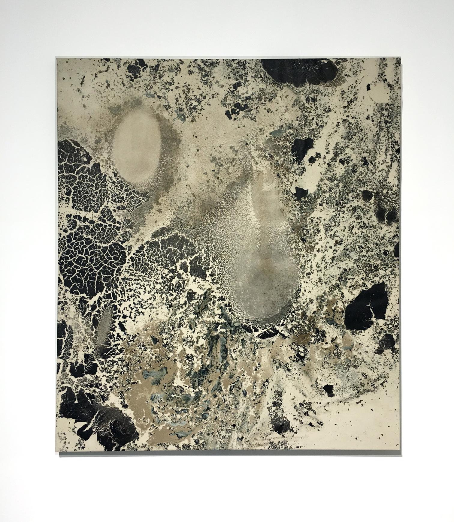 Le Grand Verre - AMORFI (4) - bitumen and oil on cotton canvas