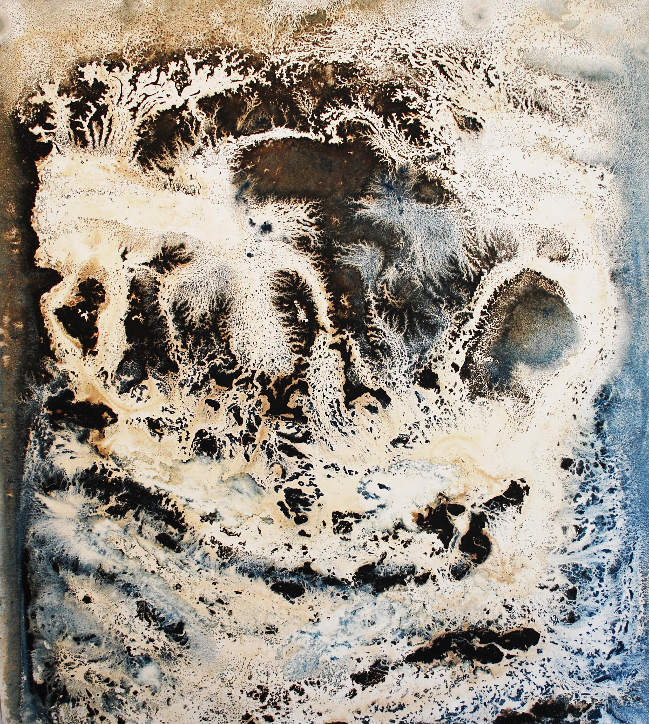 Le Grand Verre - AMORFI (5) - bitumen and oil on cotton paper