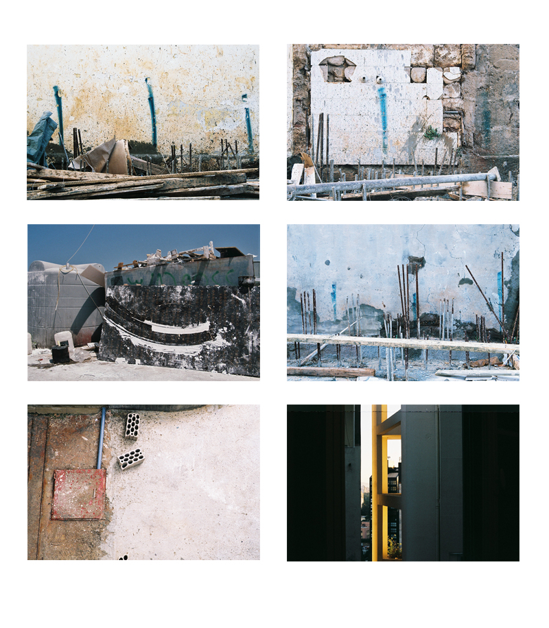 Ramy Ghanem  Construction (series)  22.5 x 15 cm  edition of 8   c-print on wood € 250 each  inquire