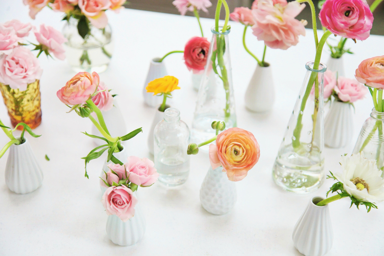 wedding bud vases