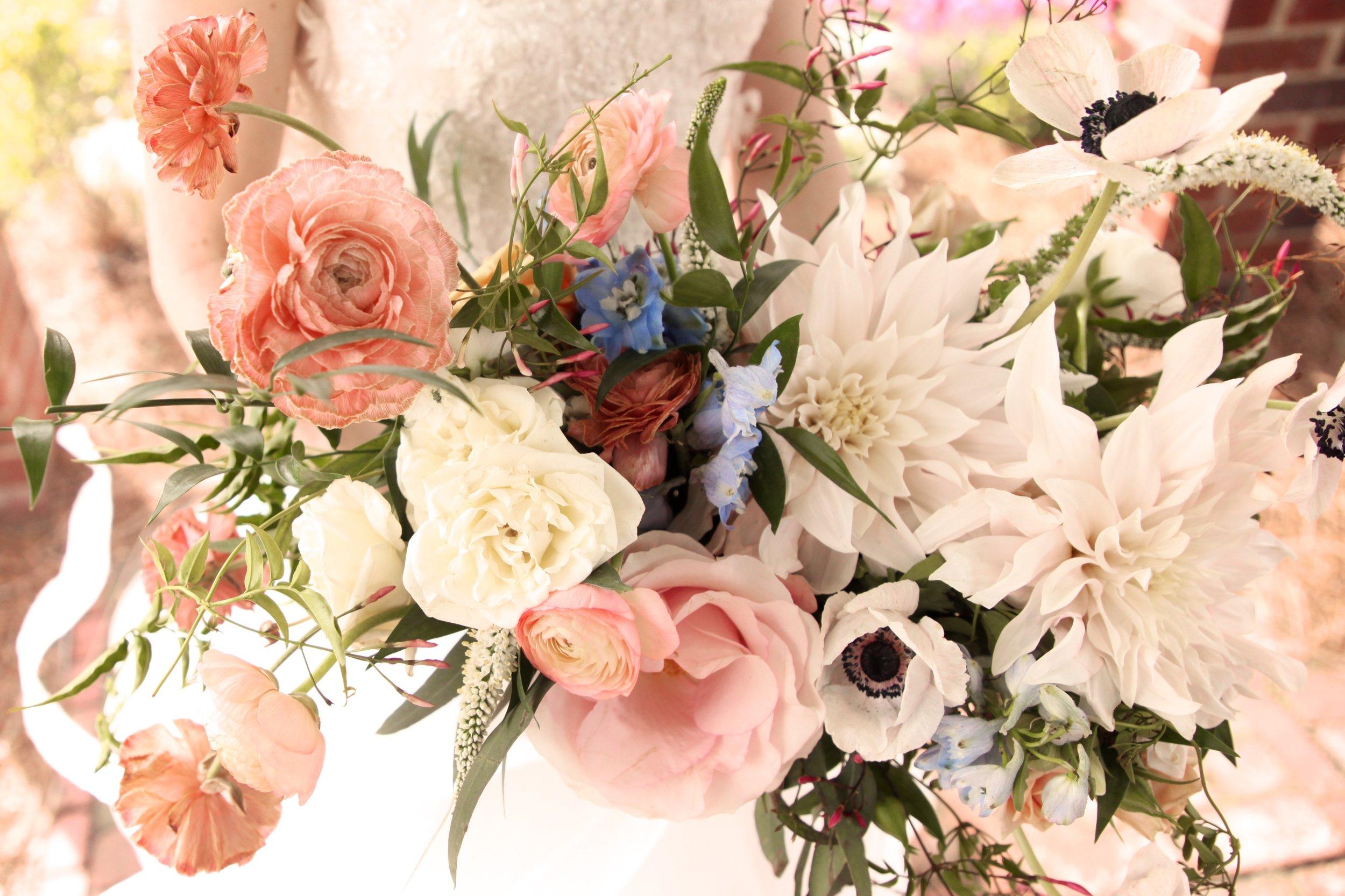pink pretty wedding bouquet