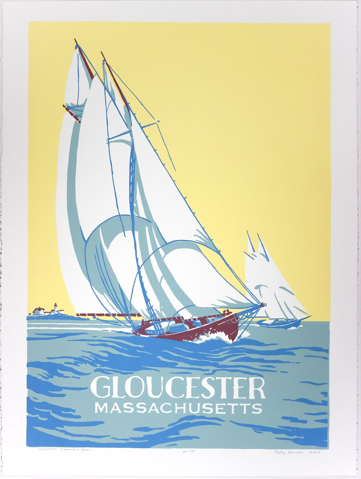 """Our Own """"International Fishermens' Race"""", Silkscreen Print. Click image for details."""