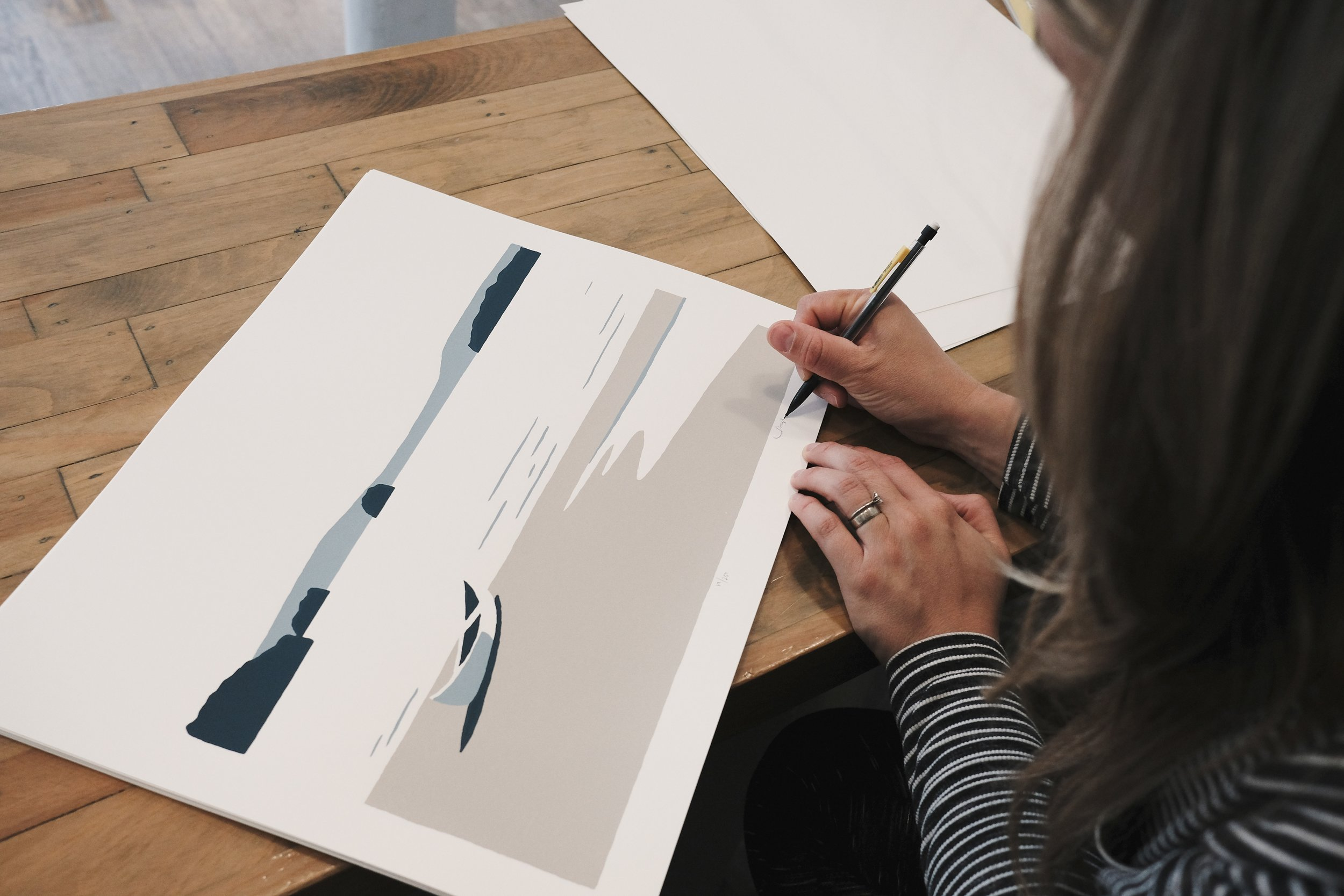 We sign and number each print - All of our prints are limited editions.