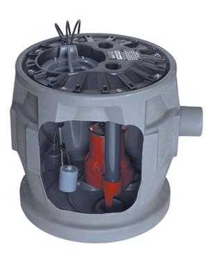 "P382LE41 24"" x 24"" Simplex Sewage System Kit (   Literature   )    2"" or 3"" Discharge"