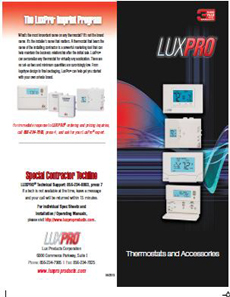 Lux Pro Thermostats