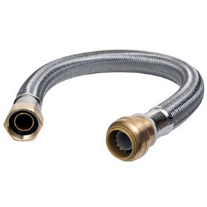 "U3088FLX15LF 3/4 X 3/4 FIP Sharkbite Flexible Water Heater Connector 15"""